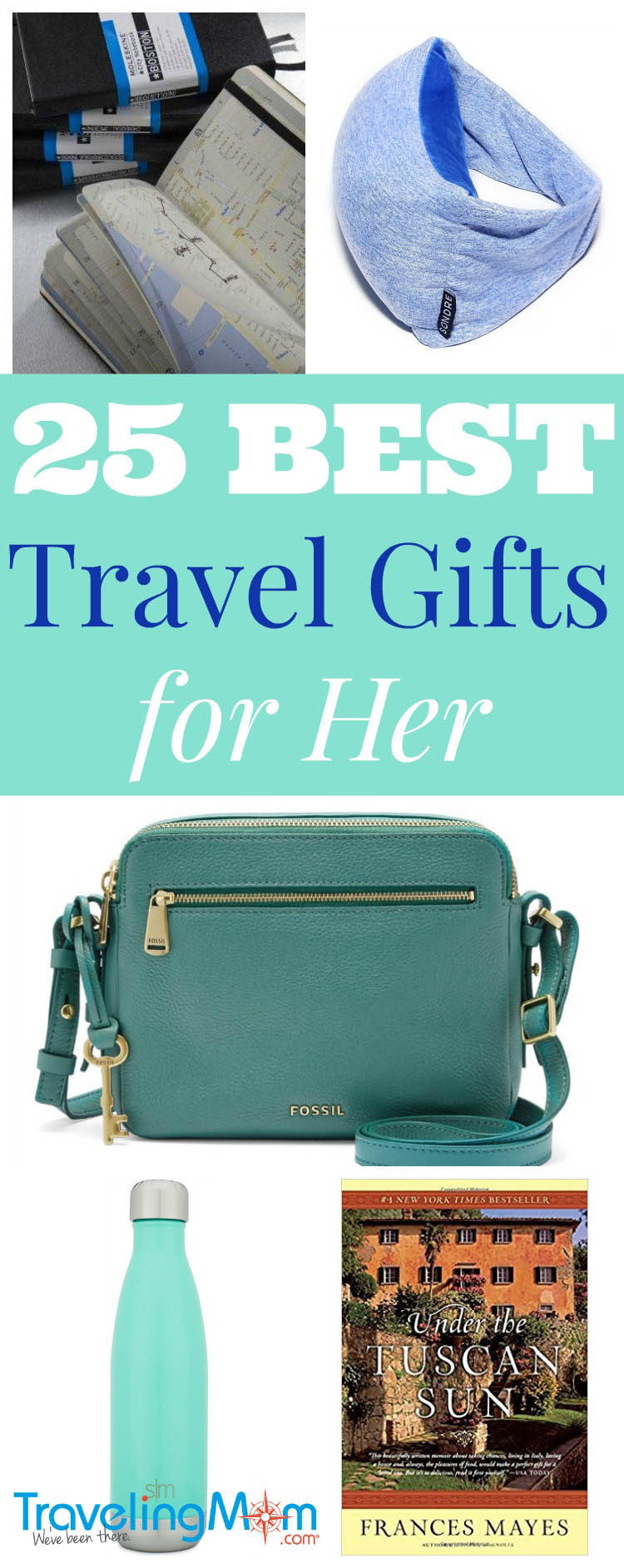 Best travel gift ideas for her - from tech gifts to travel accessories to gifts that inspire, these 25 gift ideas are the favorite must-have travel items for Traveling Moms everywhere!