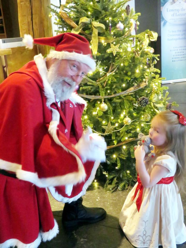 Traveling at the holidays - Christmas in Northern Ireland is magical with a stay at Bally Gally Castle and a visit from Father Christmas.