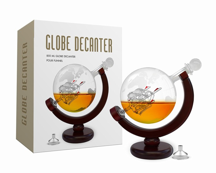 Travel gifts for men - glove whiskey decanter
