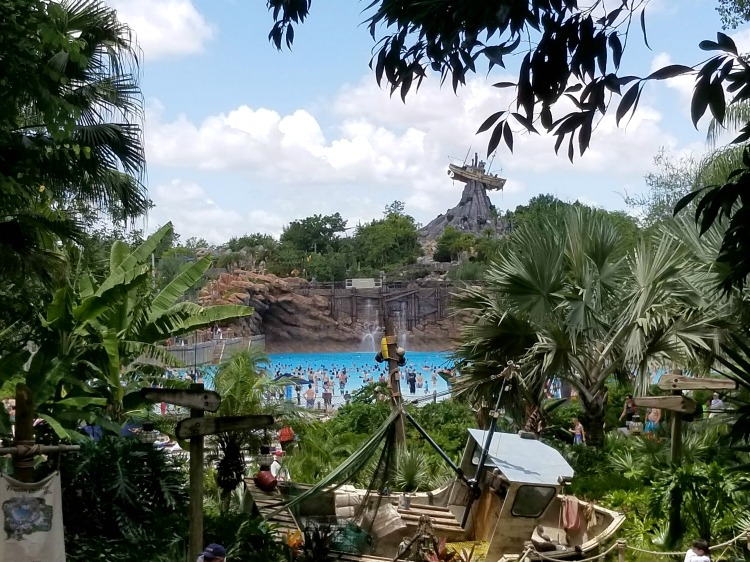 One of my favorite Typhoon Lagoon tips is to be sure to get a picture overlooking the surf pool.