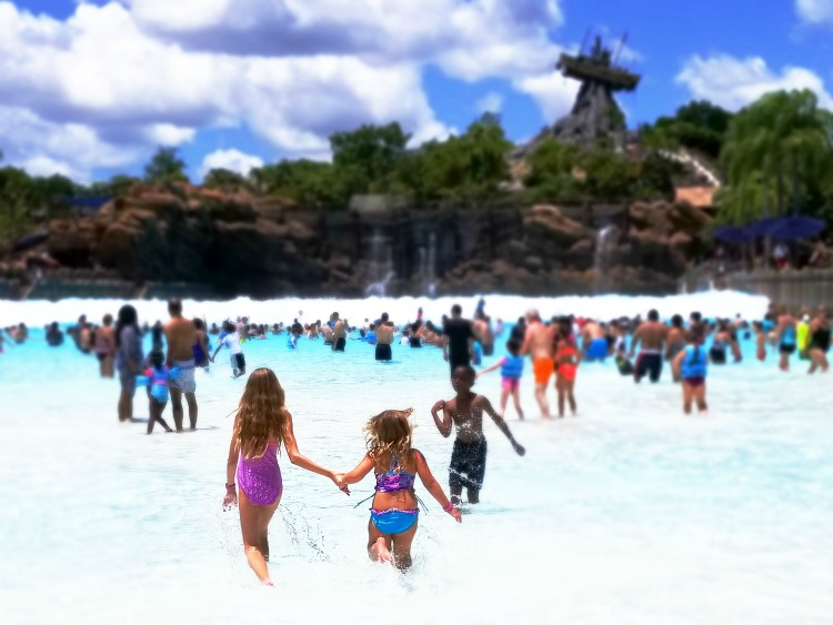 One of the most important Typhoon Lagoon tips is to start off slowly in the surf pool.