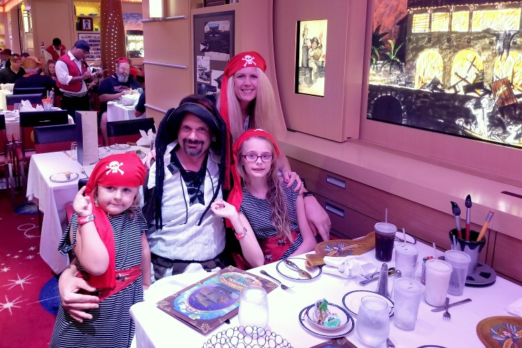 When you dine at Disney Dream restaurants on Pirate Night, be sure to wear your costume
