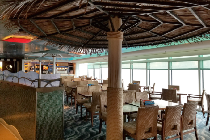 When dining on the Disney Dream, you can enjoy one or all of your meals at Cabanas
