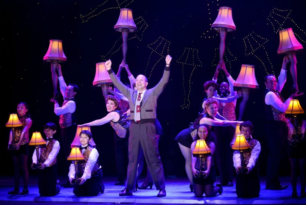 Chrismtas theater shows - the leg lamp scene from A Christmas Story