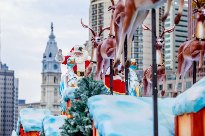 The holiday events in Philadelphia don't really start until Santa's arrival during the Thanksgiving Day parade.