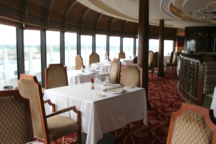 Palo, one of two Disney Dream restaurants that offer an adults only fine dining experience, has made it so that each table has an amazing view