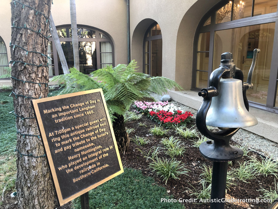 Best Things to Do in Pasadena with Kids including ringing the Pasadena Langham bell.