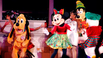 Important Mickey's Very Merry Christmas Party Tip-see the castle stage show at the end of the night for best viewing!