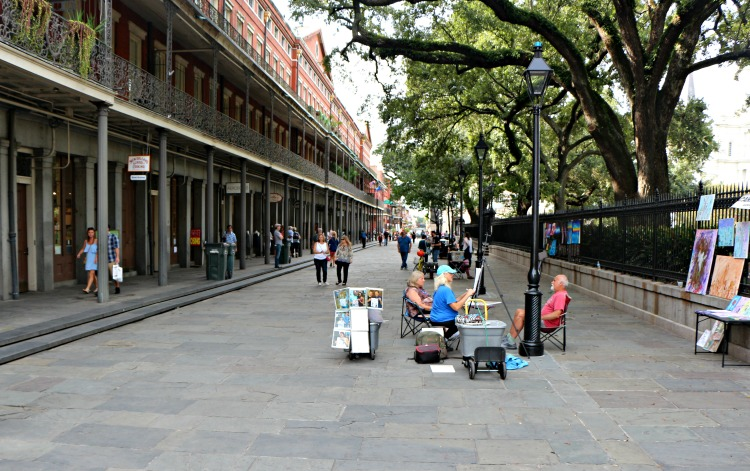 Jackson Square street art in New Orleans is a beyond Bourbon Street experience.