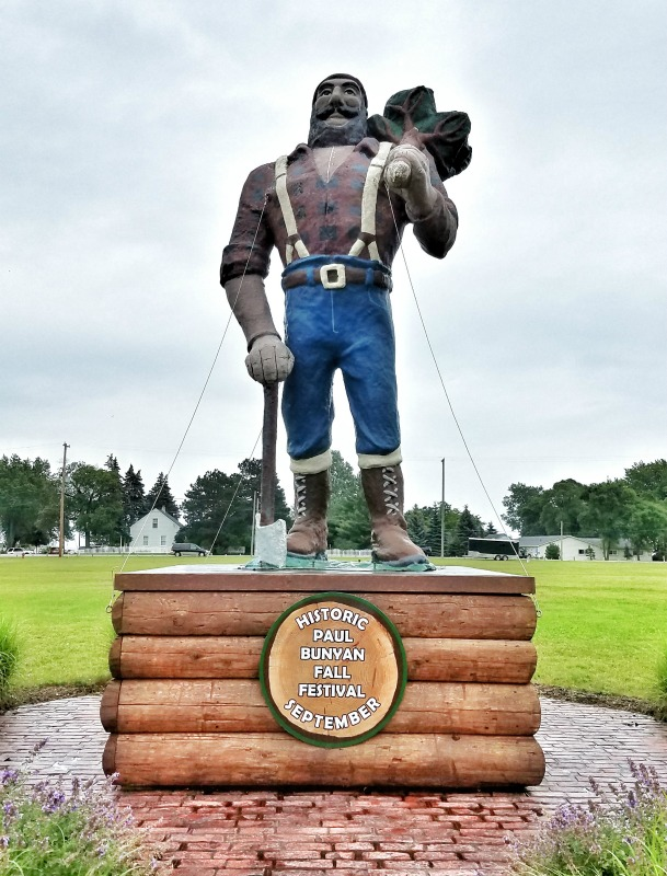 Say hello to Paul Bunya, a statue in downtown Oscoda, amongst Free things to see and do in northern Michigan |