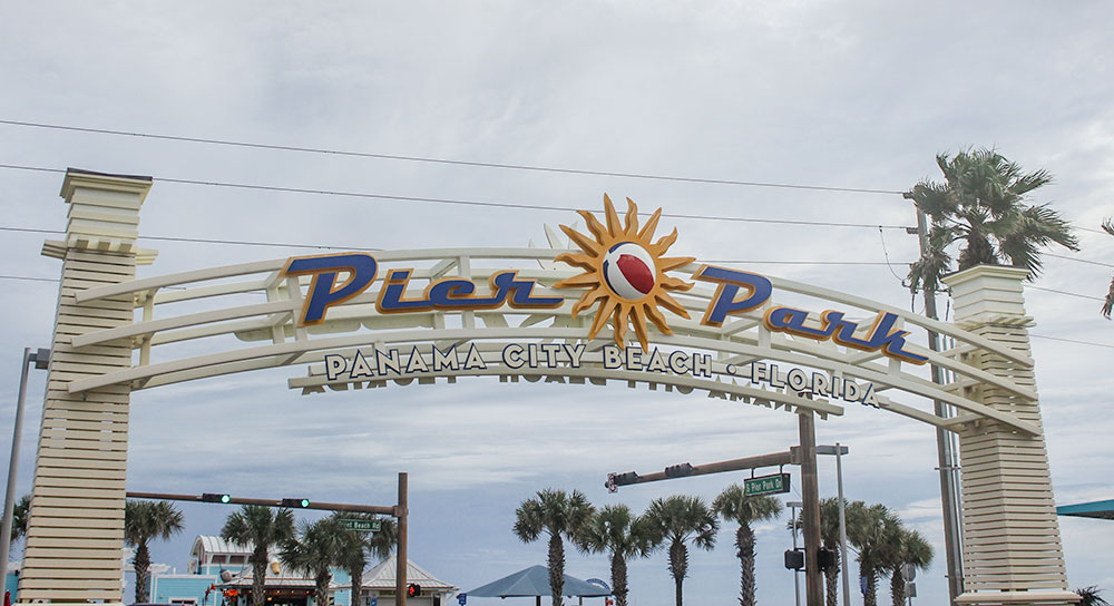 Pier Park in Panama City Beach, FL is a great place to explore on a rainy day.
