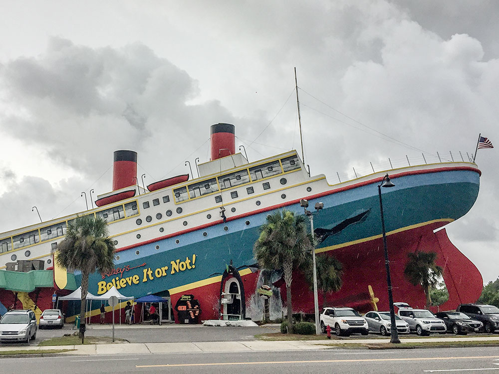Located right across the street from WonderWorks, Ripley's Believe it or Not is a great rainy day option in Panama City Beach, FL.