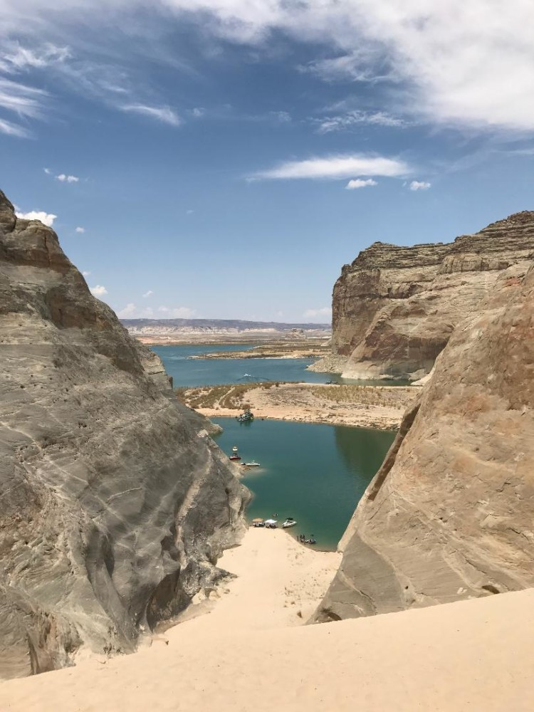 Another thing to do in Page AZ is go exploring on Lake Powell with kids. Try the Sand King for awesome views!