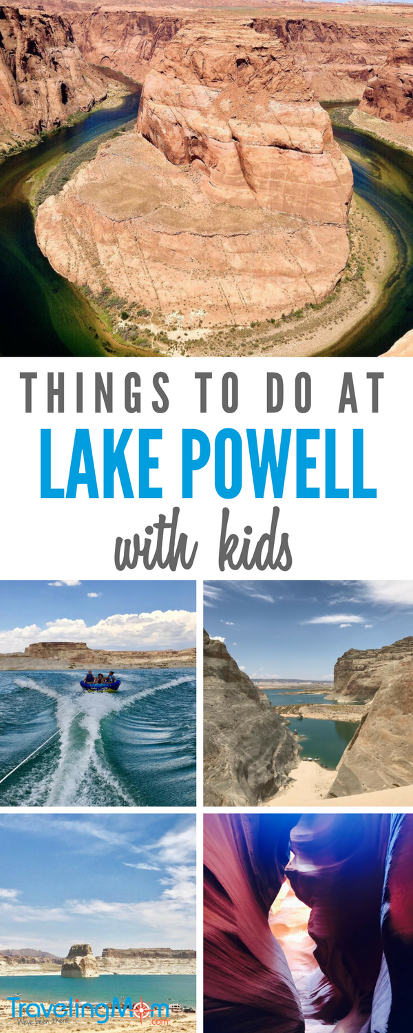 Lake Powell is a fantastic family vacation destination! Here are 5 fun things to do in Page, AZ and Lake Powell with kids. Water sports, hiking, camping, and boating are just a few.