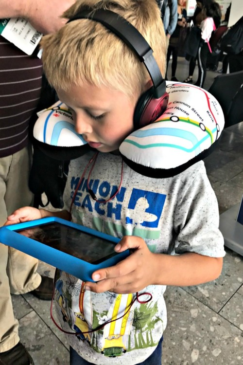 Holiday travel with a special needs child is made easier when you bring their special items like earphones or fidgets.