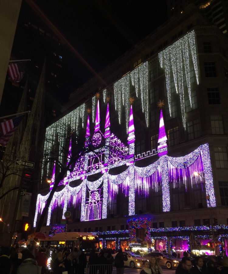 "Holiday travel inspired by movie locations include New York, home of ""Elf"" and the Saks Fifth Avenue laser light spectacular"