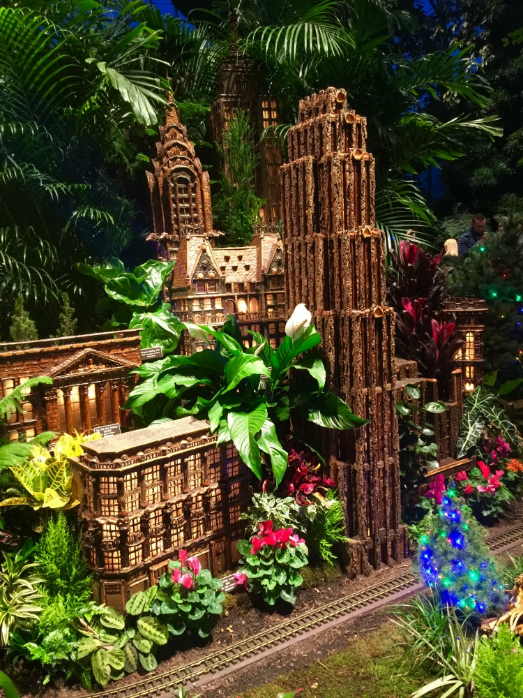 "Holiday travel inspired by movie locations include New York, home of ""Elf"" and the Holiday Train Show at New York's Botanical Gardens."