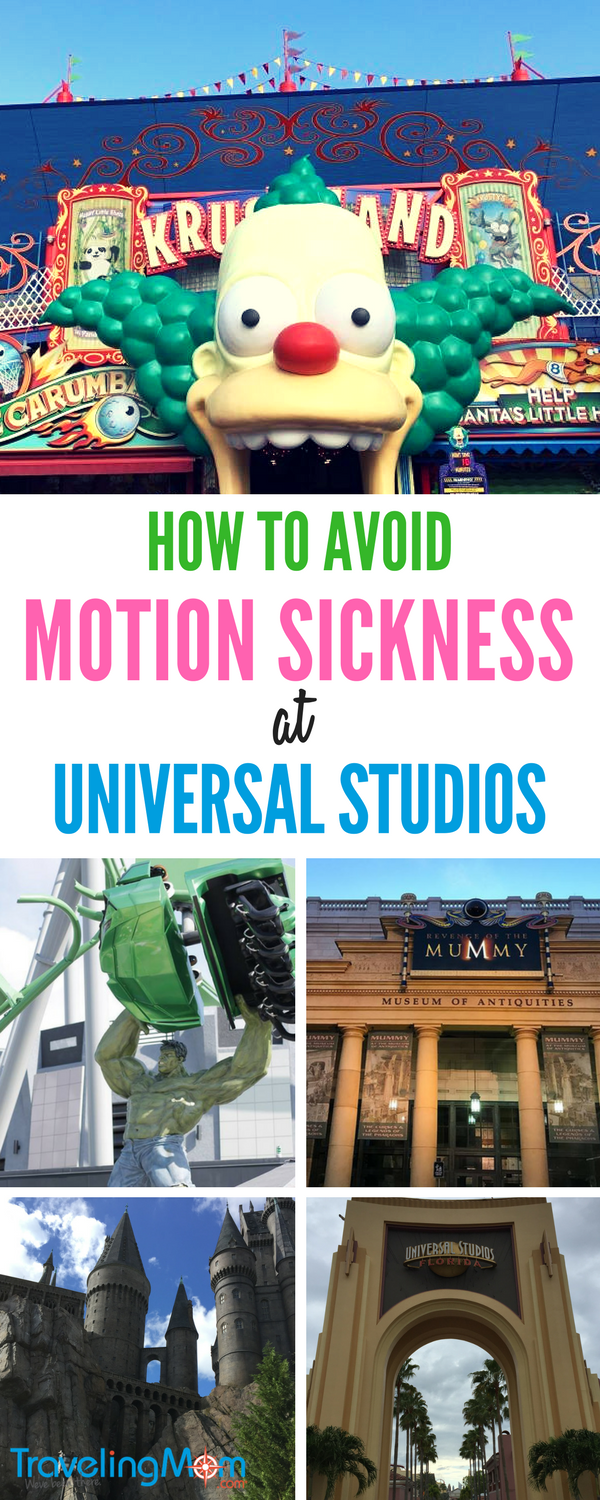 Learn how to overcome motion sickness at Universal Studios with our tips.