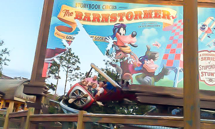 Barnstormer at Disney's Magic Kingdom is an good intro roller coaster for little ones and one to include on a Magic Kingdom itinerary