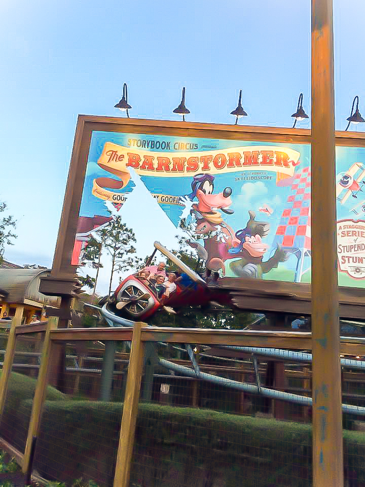 Barnstormer is one of the best rides at Disney World for preschoolers who like coasters but aren't brave enough for the big ones.