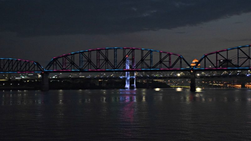 Seeing the Big Four Bridge at night should definitely be on your 2 day itinerary for Louisville, Kentucky.