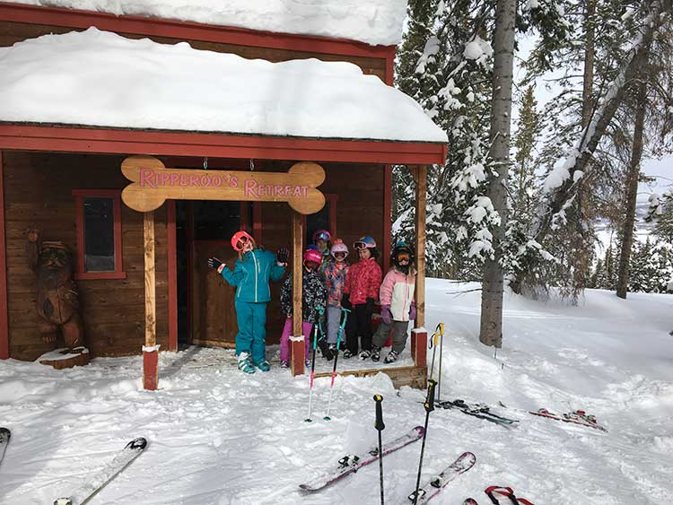 Set in a snowy tree glade, Ripparoo's Retreat in Beaver Creek is one of those family friendly ski resorts in Colorado.