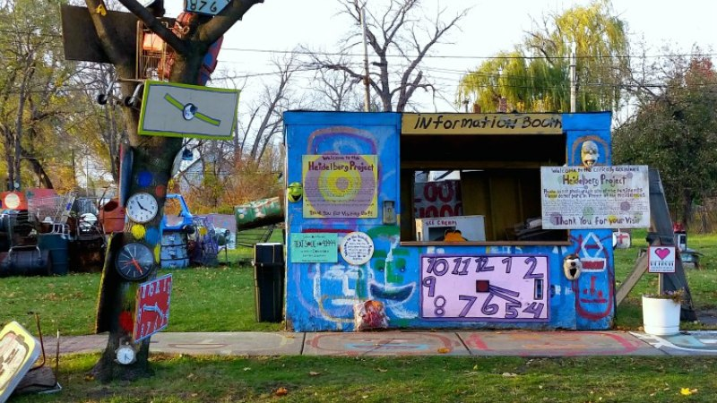take in the Heidelberg Project, one of many Free Things to do in Michigan and a must-see Roadside Attractions
