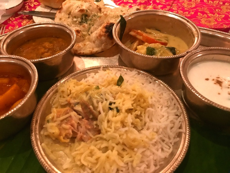Incredible food in India.