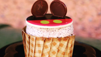 An adorable Mickey Mouse themed cupcake is one of many Magic Kingdom Snacks worth trying