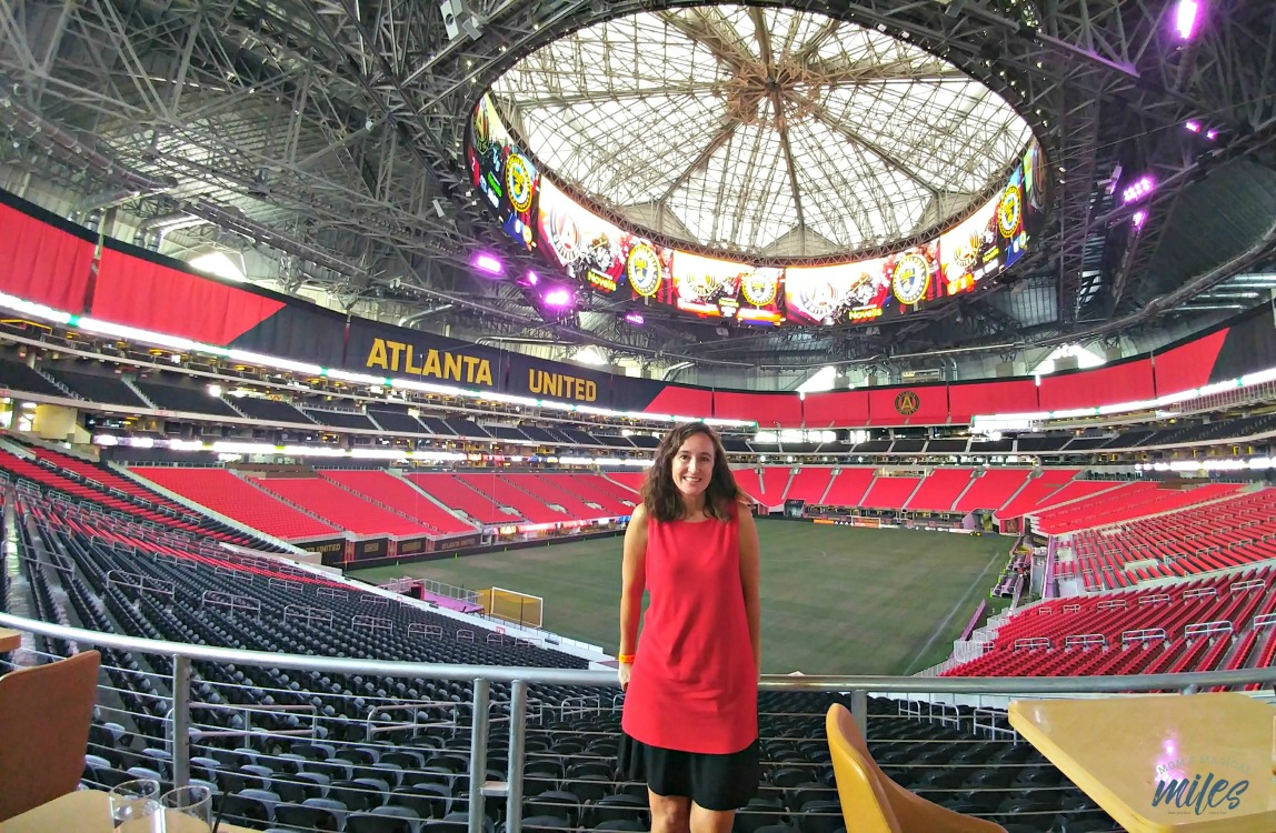 Football fans looking for things to do in Atlanta will love touring the new Mercedes-Benz Stadium!