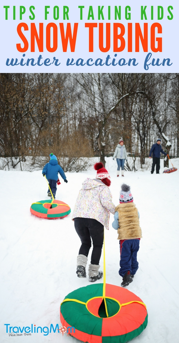 Essential tips for snow tubing with kids! Snow tubing is the best snow sport for winter vacation fun but there's stuff you need to know, like what's the best snow tubing outfit? Hint. You'll want to be warm and dry.