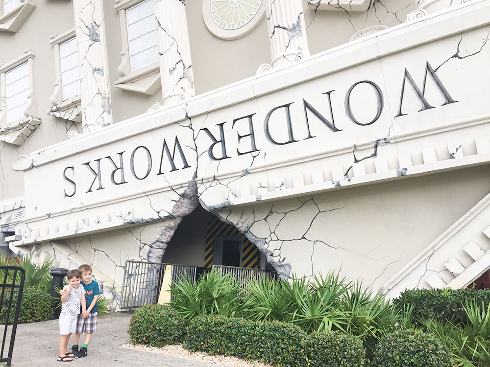 WonderWorks is a fun place to take the kids on a rainy day in Panama City Beach, FL | Photo Credit: Hannah Rinaldi, Fabulously Frugal Traveling Mom