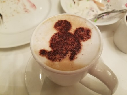 Thumbs up for capucchinos in our Disney Dream cruise review.