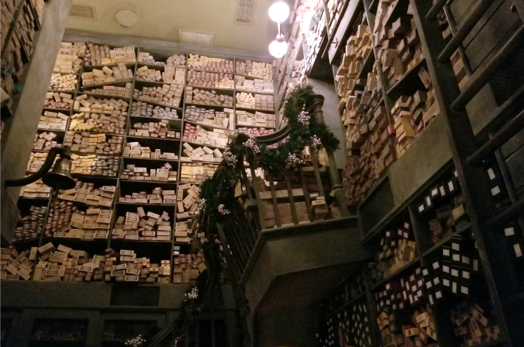 One of the best tips for Harry Potter fans is to visit Ollivander's Wand Shop.