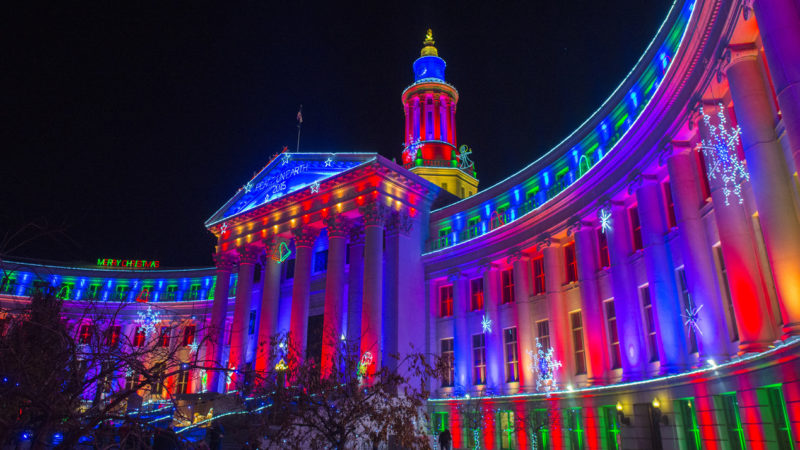 So many holiday lights in the Mile High City make it worthwhile to visit Denver in the winter.