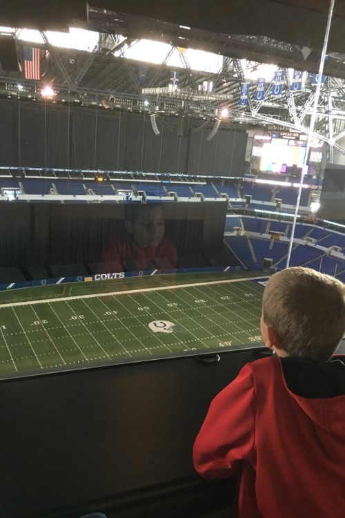 Football fans will enjoy the tour of Lucas Oil Stadium, where the Indianapolis Colts play.