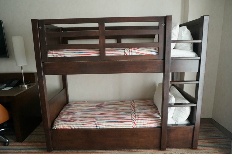 The bunk beds in the hotel rooms are another reason why the Courtyard Anaheim Theme Park Entrance is a family friendly hotel near Disneyland. Photo by Multidimensional TravelingMom, Kristi Mehes.
