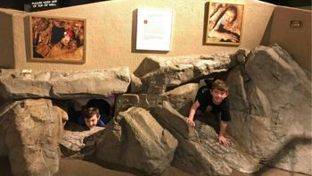 Things to do in Tucson with kids include Hands on exhibits at Kartchner Caverns State Park