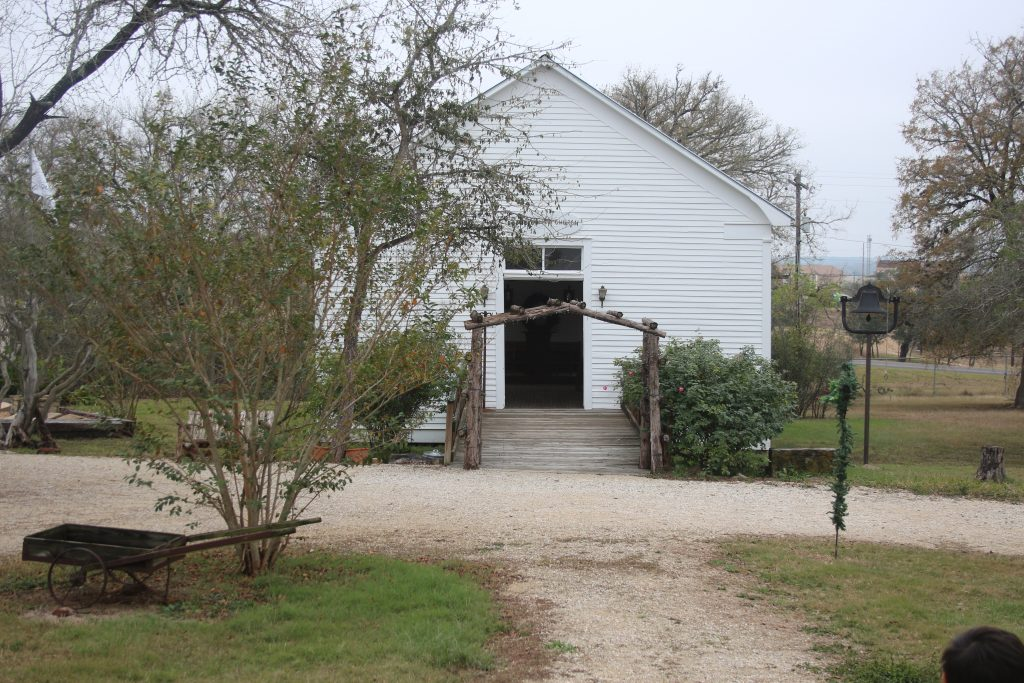 Church at Pioneer Village Living History Museum in Gonzales Texas