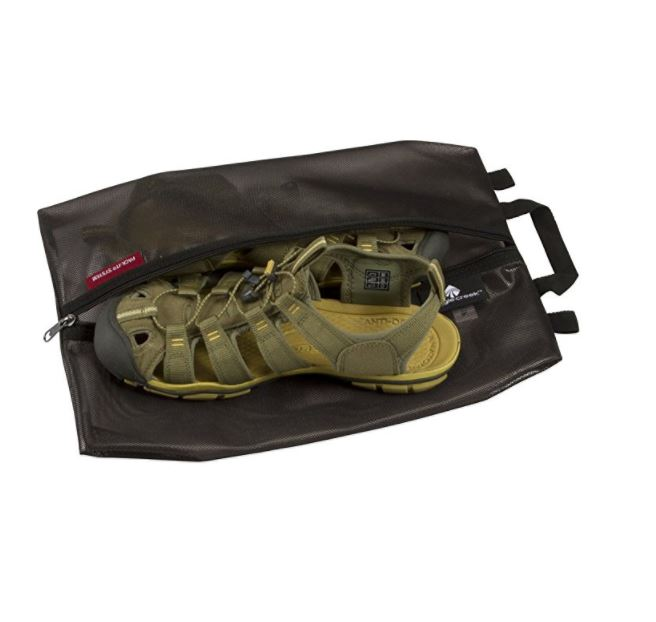 Need gifts for active travelers? Our outdoor gift guide recommends this shoe bag.