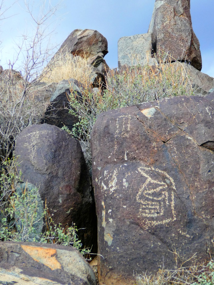 things to see on a southwest road trip in New Mexico - Petroglyps