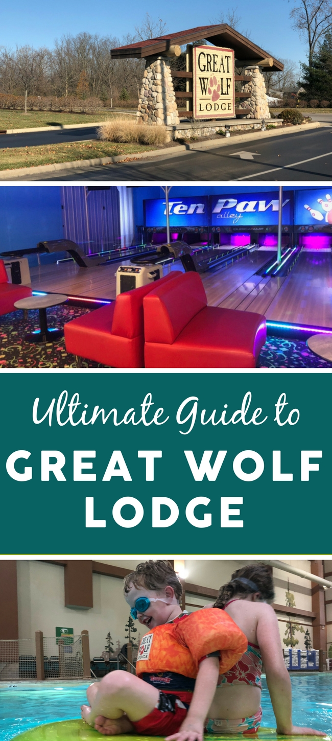 Planning a trip to Great Wolf Lodge? TravelingMom has put together this Ultimate Guide, full of Great Wolf Lodge tips for first-time visitors! We've covered Great Wolf Lodge suites, restaurants, activities, and attractions. Find out what activities require an additional cost, what you'll find in the indoor waterpark, and much more! #GreatWolfLodge #TravelingMom #indoorwaterpark #familytravel
