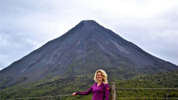 Visit to Arenal volcano diring a family friendly vacation in costa rica