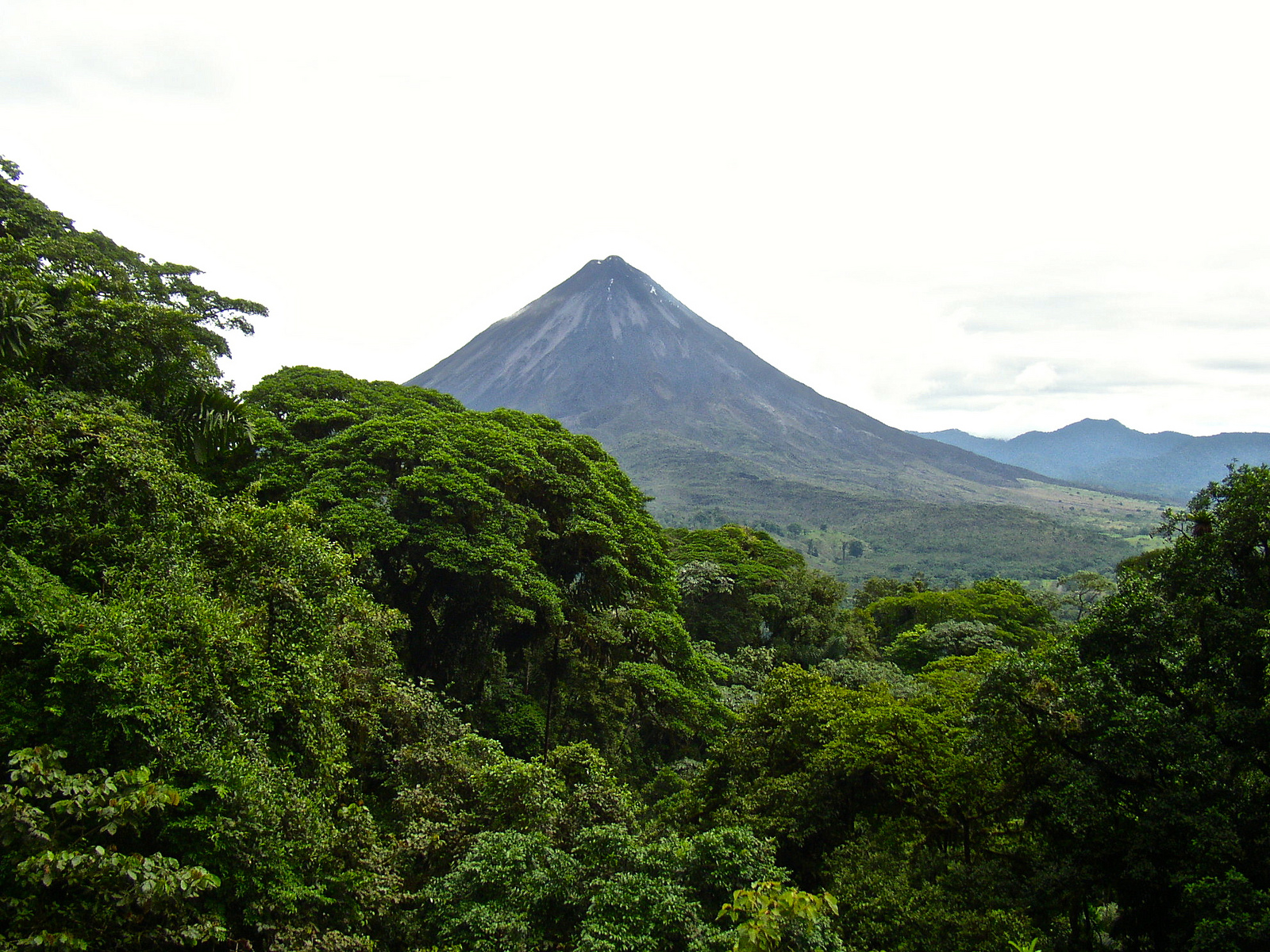 view of arenal volcano in costa rica