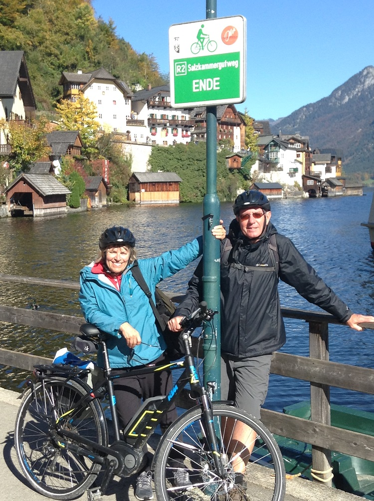 Easy to read signs are just one of the perks when taking a self-guided Austrian biking tour!