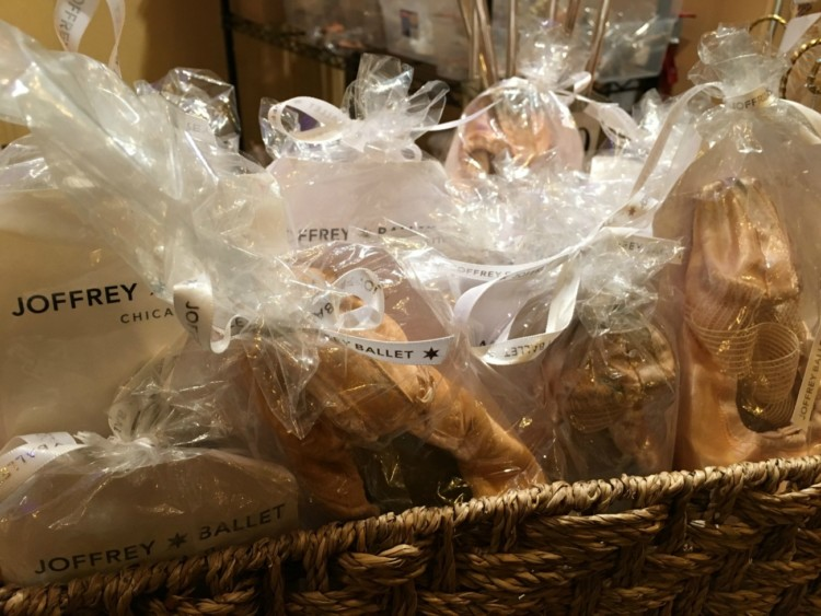 Pointe shoes from Joffrey Ballet dancers make for a fun souvenir of a Chicago shopping weekend.