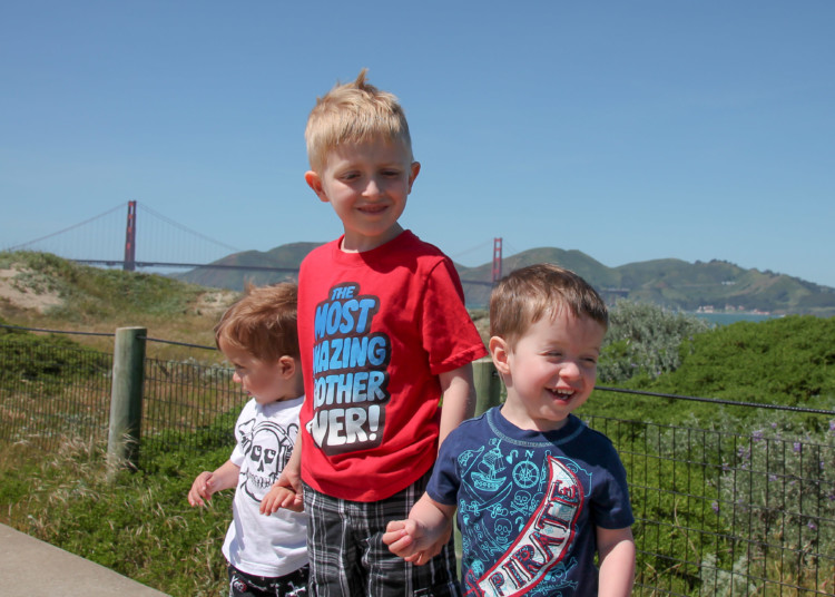 Road trips with kids with ADHD should include a lot of stops, like this one at Crissy Field near the Golden Gate Bridge in San Francisco California