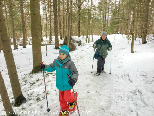 snowshoeing is one the things to do in the snow with kids