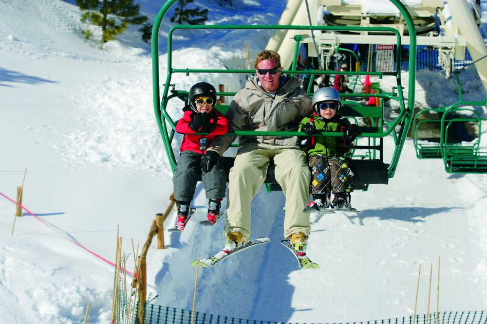 skiing is among the best winter sports for families in L.A.
