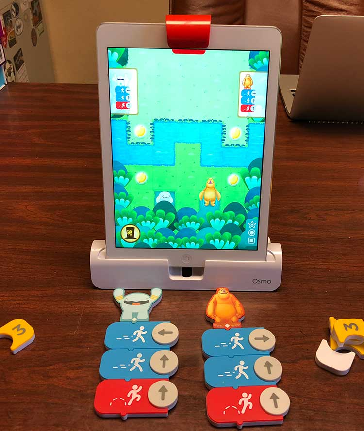 family travel board games for the family -- Osmo Coding Jam